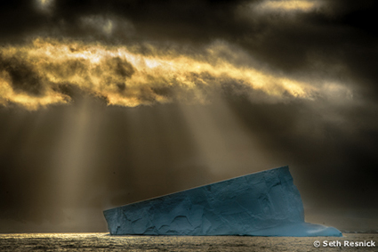 Iceberg at sunrise - DPD seth resnick and John Paul Caponigro Antarctica Photography Workshop